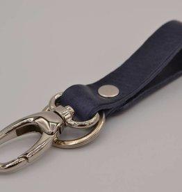 Arrigo Blue genuine leather keychain