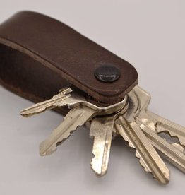 Arrigo Brown genuine leather keychain