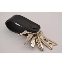Arrigo Black genuine leather keychain