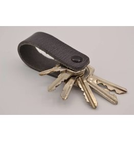 Arrigo Gray genuine leather keychain
