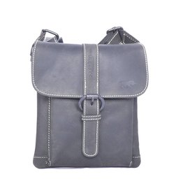Arrigo SMOOTH AND BUCKLED shoulderbag