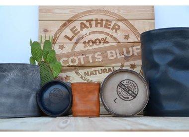 Leather flower pots