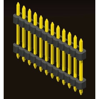 AMTEK Technology Co. Ltd. 5PH5DDX10-1XX Pin Header 1.0mm 1 Row H=1.0mm Stack Straight Type