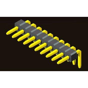 AMTEK Technology Co. Ltd. 5PH5RDX10-1XX Pin Header 1.0mm 1 Row H=1.0mm Right Angle Type