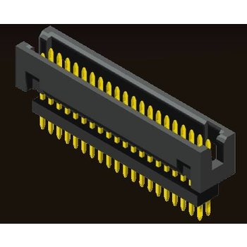 AMTEK Technology Co. Ltd. 5BH3ESX88-XX   Box Header 1.27 X 1.27mm Elevated Straight Type