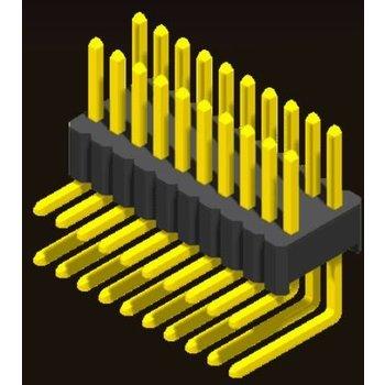 AMTEK Technology Co. Ltd. 5PH4RDX17/25-2XX   Pin Header 1.27mm SQ PIN0.46mm 2 Row H=1.7/2.5mm Right Angle Type