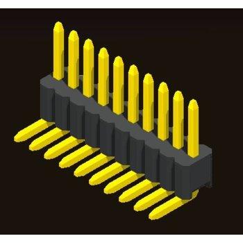 AMTEK Technology Co. Ltd. 5PH4RDX17/25-1XX   Pin Header 1.27mm SQ PIN0.46mm 1 Row H=1.7/2.5mm Right Angle Type