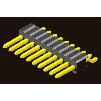 AMTEK Technology Co. Ltd. 5PH4MRX25-1XX   Pin Header 1.27mm SQ PIN0.46mm 1 Row H=2.54mm SMT R/A Type