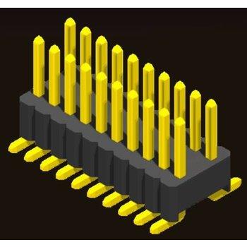 AMTEK Technology Co. Ltd. 5PH4MSX17/25-2XX   Pin Header 1.27mm SQ PIN0.46mm 2 Row H=1.7/2.5mm SMT Type