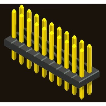 AMTEK Technology Co. Ltd. 5PH3SDX08/10/15/16/17/20/25-2XX      Pin Header 1.27mm SQ PIN0.4mm 2 Row H=0.85/1.0/1.5/1.6/1.7/2.0/2.5mm Straight Type