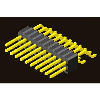 AMTEK Technology Co. Ltd. 5PH3MRX25-2XX     Pin Header 1.27mm SQ PIN0.4mm 2 Row H=2.5mm SMT R/A Type