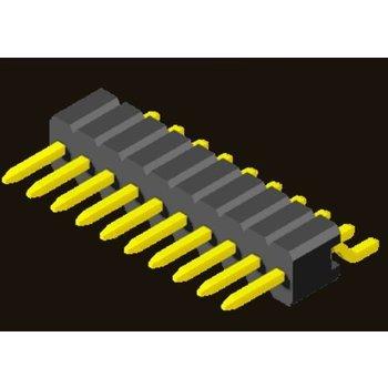 AMTEK Technology Co. Ltd. 5PH3MRX25-1XX     Pin Header 1.27mm SQ PIN0.4mm 1 Row H=2.5mm SMT R/A Type
