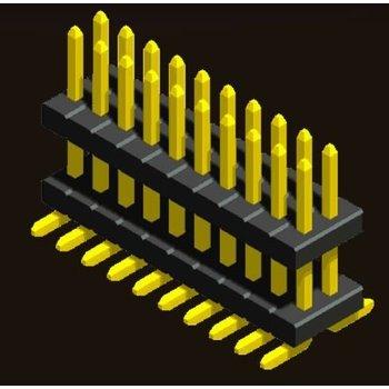 AMTEK Technology Co. Ltd. 5PH3DMX08/10/15/17/20/25-2XX     Pin Header 1.27mm SQ PIN0.4mm 2 Row H=0.85/1.0/1.5/1.7/2.0/2.5mm Stack SMT Type