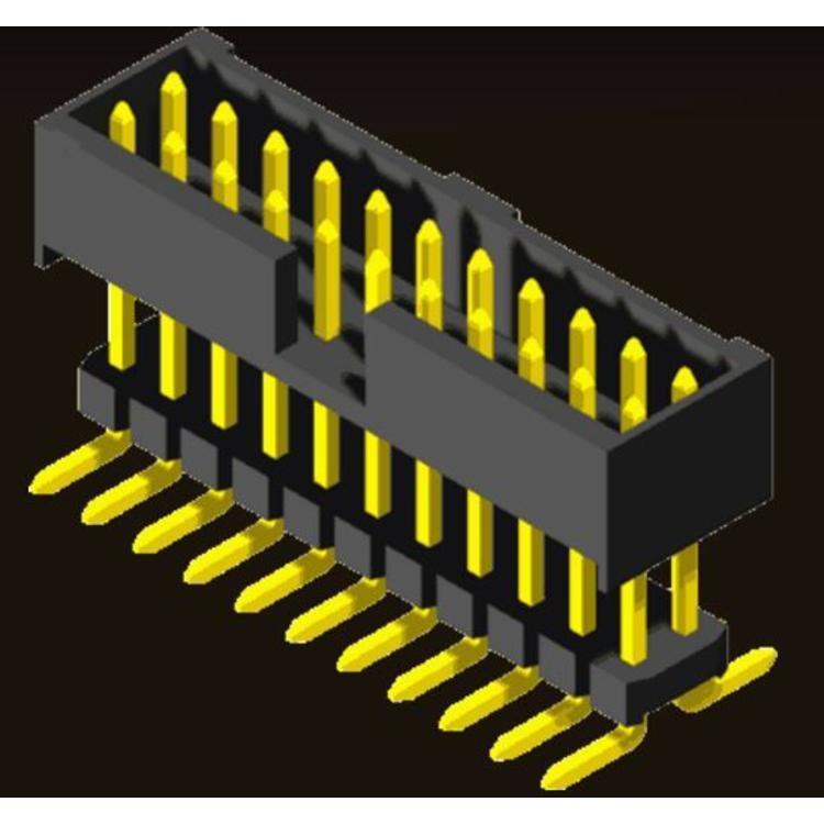 AMTEK Technology Co. Ltd. 5BH2ES/EMX48-XX      Box Header 2.0mm Elevated SMT/Straight Type