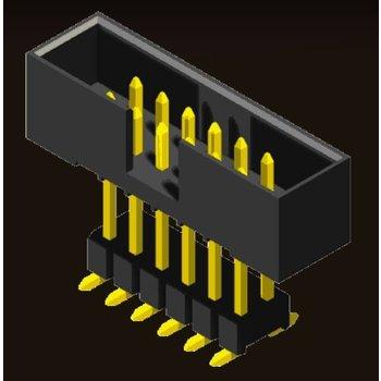 AMTEK Technology Co. Ltd. 5BH2ES/EMXNN-XX     Box Header 2.0mm Elevated H=6.05 SMT/Straight Type