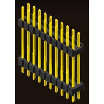 AMTEK Technology Co. Ltd. 5PH2DDX15/20-2XX   Pin Header 2.0mm 2 Row H=1.5/2.0 Stack Straight Type
