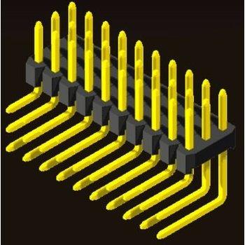 AMTEK Technology Co. Ltd. 5PH2RDX15/20-3XX     Pin Header 2.0mm 3 Row H=1.5/2.0mm Right Angle Type
