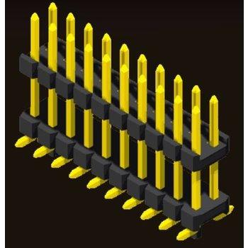 AMTEK Technology Co. Ltd. 5PH2DMX15/20-2XX           Pin Header 2.0mm 2 Row H=1.5/2.0mm Stack SMT Type