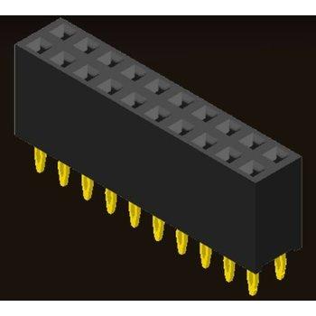 AMTEK Technology Co. Ltd. 5PS1FSX85-2XX      Female Header 2.54mm H=8.5mm Press Fit Type