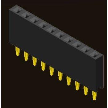 AMTEK Technology Co. Ltd. 5PS1FSX85-1XX      Female Header 2.54mm H=8.5mm Press Fit Type