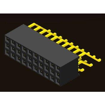 AMTEK Technology Co. Ltd. 5PS1MRX85-1/2/3XX           Female Header 2.54mm H=8.5mm SMT/Right Angle Type