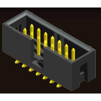 AMTEK Technology Co. Ltd. 5BH1MR/RD/SDXNN-XX         Box Header 2.54mm SMT/Right Angle/Straight Type