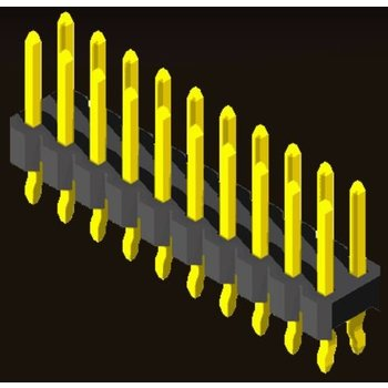 AMTEK Technology Co. Ltd. 5PH1RDX25-2XX-KX                     Pin Header 2.54mm H=1.5/2.5mm Kink Type