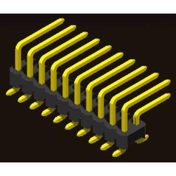 AMTEK Technology Co. Ltd. 5PH1RMX25-2XX            Pin Header 2.54mm H=2.5mm R/A SMT Type