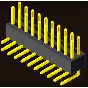 AMTEK Technology Co. Ltd. 5PH1RDX43-2XX            Pin Header 2.54mm H=4.3mm Right Angle Type