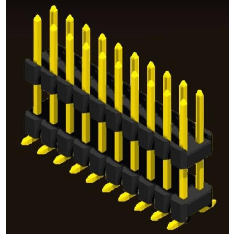 AMTEK Technology Co. Ltd. 5PH1DMX15/17/25-2XX                         Pin Header 2.54mm H=1.5/1.7/2.5mm Stack SMT Type