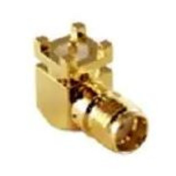 LINX Technologies Inc. SMA Female Right-Angle Surface-Mount Connector, Gold