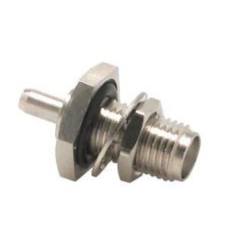 LINX Technologies Inc. SMA Female Bulkhead Rear Mount Connector with RG58 Cable End Crimp and O-Ring