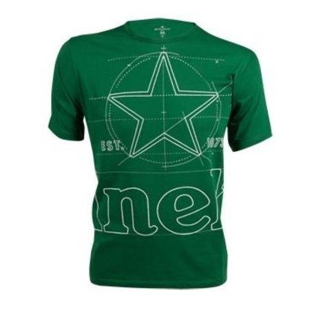 T-shirt groen heren ronde hals