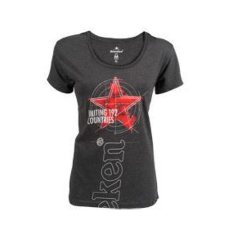 T-shirt grijs dames ronde hals