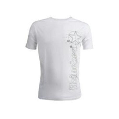 T-shirt wit heren ronde hals