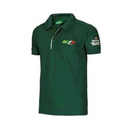 F1 poloshirt groen heren