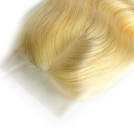 Closure 4x4 Virgin Hair Blonde Hair