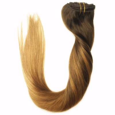 Clip in Extensions 120gram Ombre Balayage Caramel