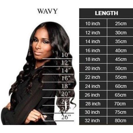 Body wave 3 bundels met lace closure