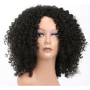 Synthetische Kinky Curl Afro pruik