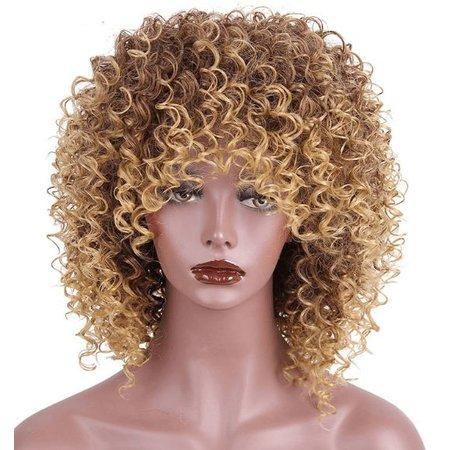 Synthetische pruik met blond en bruin haar gemengd