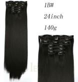 Synthetische clip in extensions 140 gram 60 cm