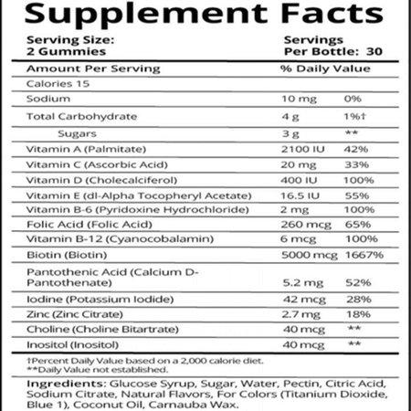 Sugarbearhair Haar vitamine voor huid, haar en nagels
