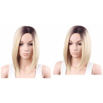 DAMES PRUIK OMBRE BLOND 12 INCH