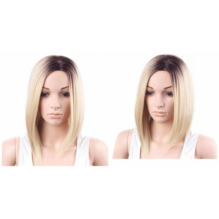 Pruik van synthetisch blond haar