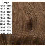 Clip in extensions light brown