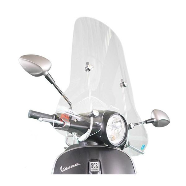 Vespa Primavera Hoog Windscherm inclusief bevestigingsset van scootercentrum