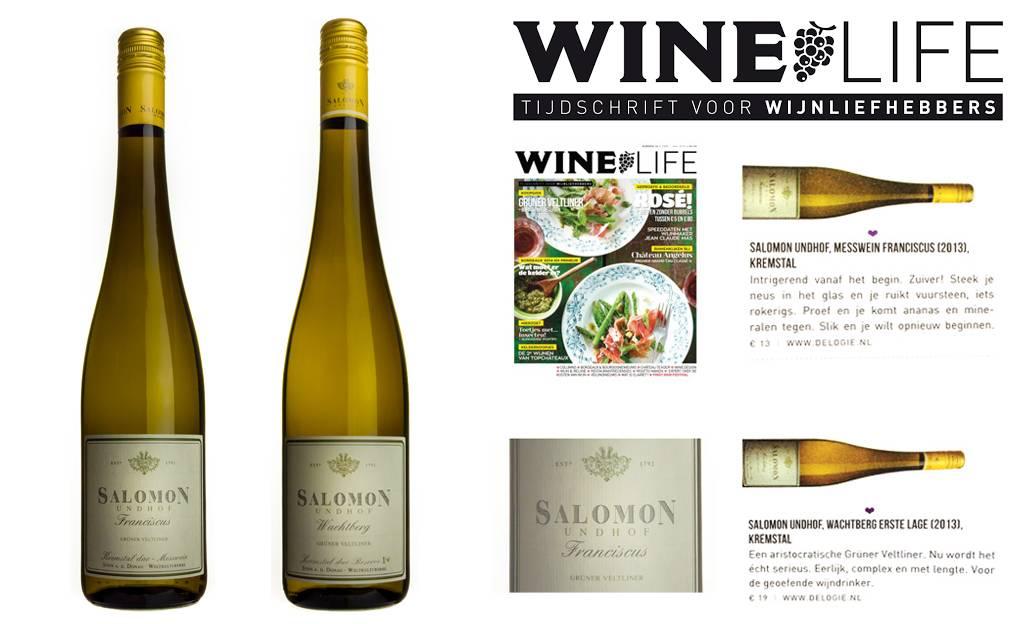 Winelife over onze Grüner Veltliner van Salomon Undhof