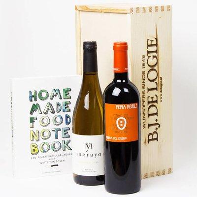 Spaans wit en rood met kookboek Home Made Food Note Book - Cadeau