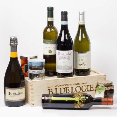 Italiaanse dinerkist met delicatessen - Cadeau
